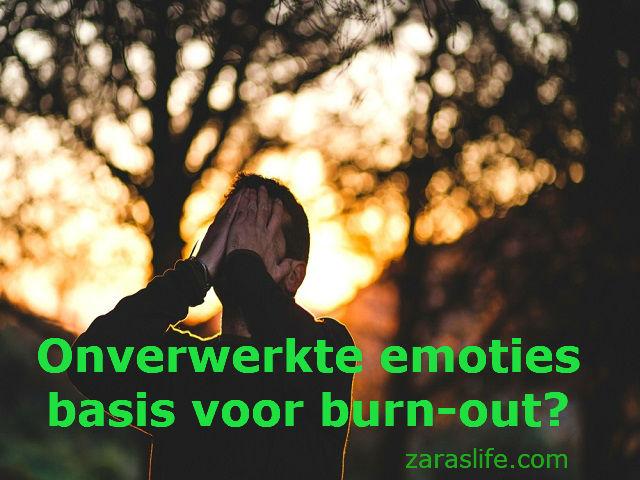 Onverwerkte emoties basis voor burn-out?