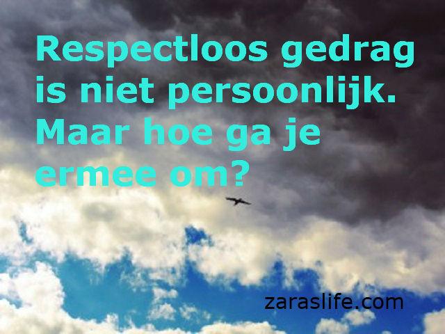 Respectloos gedrag is niet persoonlijk. Maar hoe ga je ermee om?