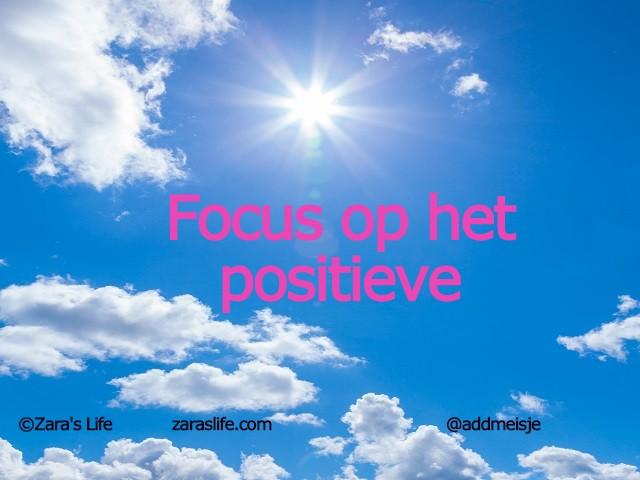 Focus op het positieve
