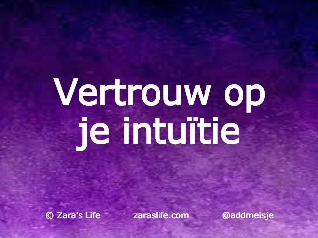 Vertrouw op je intuïtie